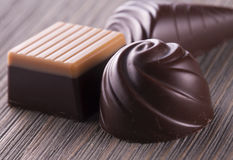 Chocolates of different kinds Stock Photo