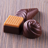 Chocolates of different kinds Royalty Free Stock Photos