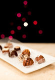 Chocolates on Display Royalty Free Stock Photography
