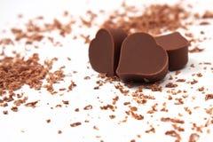 Chocolates do coração Imagens de Stock Royalty Free