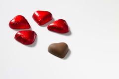 Chocolates do coração Foto de Stock Royalty Free