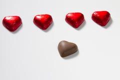 Chocolates do coração Fotos de Stock