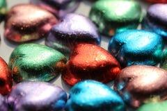 Chocolates do coração Imagens de Stock