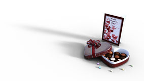 Chocolates do dia de Valentim Fotografia de Stock