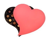Chocolates do dia de Valentim do St Imagem de Stock Royalty Free