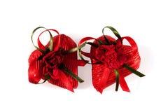 Chocolates do dia do ` s do Valentim na forma dos corações no fundo branco Imagem de Stock Royalty Free