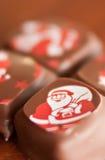 Chocolates do Natal Imagens de Stock