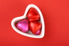 Chocolates do Valentim Fotos de Stock