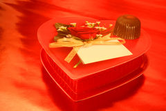 Chocolates do Valentim Fotografia de Stock Royalty Free