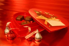 Chocolates do Valentim Imagem de Stock