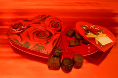 Chocolates do Valentim Foto de Stock Royalty Free