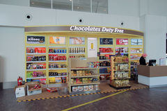 Chocolates duty free shop in Kuala Lumpur International Airport Royalty Free Stock Photos