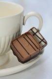 Chocolates e chá de Bélgica Fotografia de Stock Royalty Free