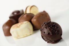 Chocolates e trufas fotografia de stock