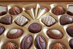 Chocolates elegantes Fotos de archivo libres de regalías