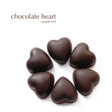 Chocolates em heart-shaped fotos de stock royalty free