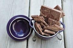 Chocolates em um recipiente Fotos de Stock Royalty Free