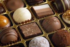 Chocolates em uma caixa Foto de Stock Royalty Free