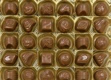 Chocolates em uma caixa Fotos de Stock