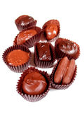 Chocolates en el blanco 1 imagen de archivo