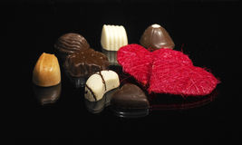 Chocolates encantadores, luxuosos fotos de stock