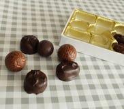 Chocolates extravagantes foto de stock royalty free