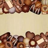 Chocolates frame Royalty Free Stock Photo