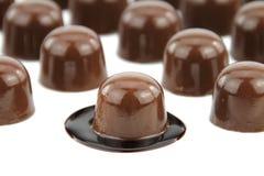Chocolates gastrónomos fotos de archivo