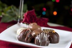 Chocolates gastrónomos foto de archivo