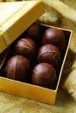 Chocolates in a gift box -  dessert Royalty Free Stock Images