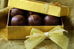 Chocolates in a gift box -  dessert Stock Photos