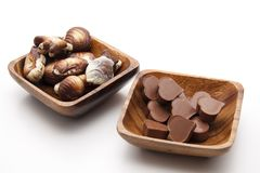 Chocolates with heart Stock Photos