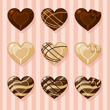 Chocolates. In a heart shape Stock Photography