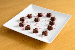 Chocolates Heart-shaped fotografia de stock royalty free