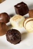 Chocolates hechos a mano Foto de archivo libre de regalías