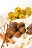 Chocolates hechos a mano Imagenes de archivo