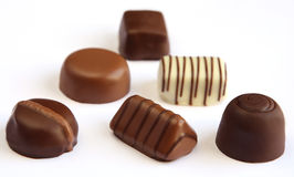 Chocolates isolados Fotografia de Stock Royalty Free
