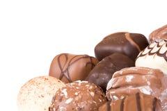Chocolates isolados foto de stock