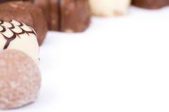 Chocolates isolados imagem de stock
