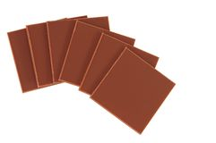 Chocolates. Isolated Stock Images
