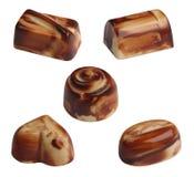 Chocolates. Isolated Royalty Free Stock Images