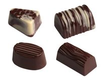 Chocolates. Isolated Stock Photos