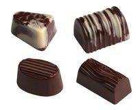 Chocolates. Isolated Stock Photos