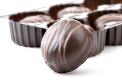 Chocolates isolated Stock Photo