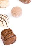 Chocolates isolated royalty free stock image