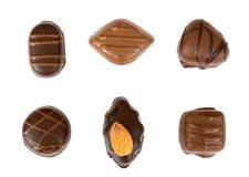 Chocolates isolated Stock Image