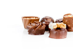 Chocolates isolated Royalty Free Stock Images