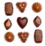 Chocolates isolated over white Royalty Free Stock Images