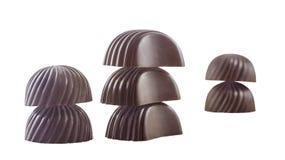 Chocolates like firtree and mushrooms Stock Image