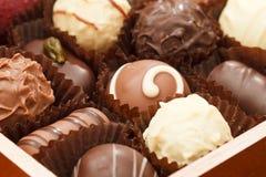 Chocolates lujosos Imágenes de archivo libres de regalías